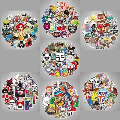100 Pcs Car Stickers Wall Bomb Laptop Luggage Decals Dope Sticker Mix Funny