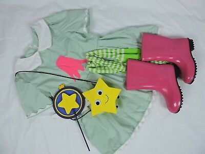 Star Vs. Forces of Evil Disney Costume Handmade Wand Purse Boots Girls Size 12