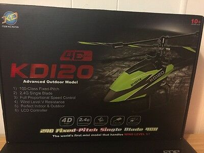 KD120 RC Helicopter NEW Small 4CH RTF 2.4G Single-Blade Advance Level Green