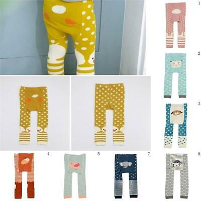 Baby Toddler Boys Girls Cute Cartoon Print Pants Trousers Leggings Bottoms