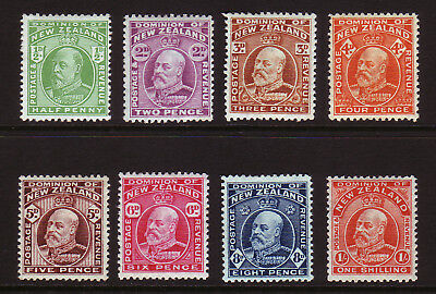 NEW ZEALAND. SG 387-394, 1/2d to 1/-. MOUNTED MINT.