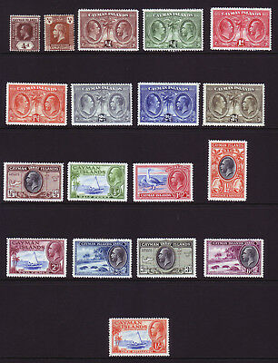 Cayman Islands. Mounted Mint Selection.