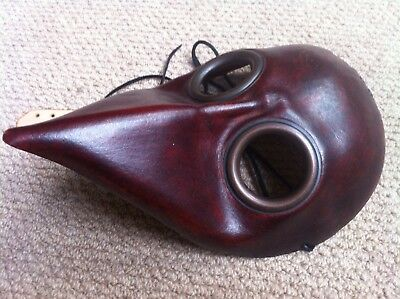 Dr Plague Leather Mask Hand Crafted