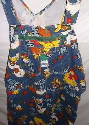 Vintage Hee Haw Liberty Adult Carpenter Overalls Blue Size 44x36 100% Cotton
