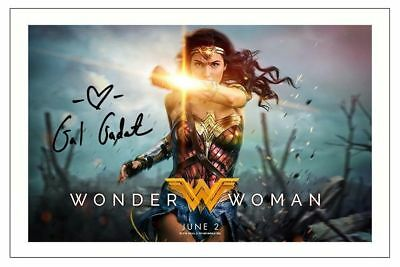 Gal Gadot Wonder Woman Signed Autograph 6X4 Photo Print
