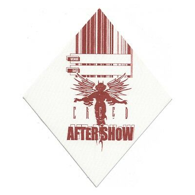 Creed authentic Aftershow 1999-2000 tour Backstage Pass