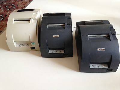 LOT 3X : Epson TM-U220B MODEL M188B Matricielle, pout tickets de caisse, RS 232.