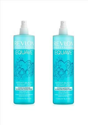 2x Revlon Equave 2 Phase Keratin Hydro Nutritive Conditioner 500 ml