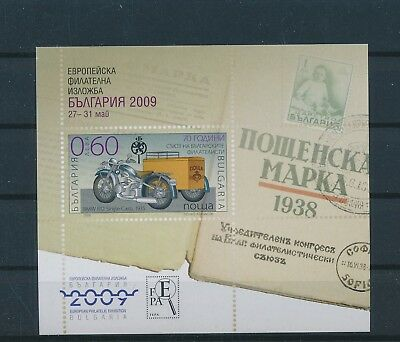 LH19414 Bulgaria 2009 motorcycles good sheet MNH