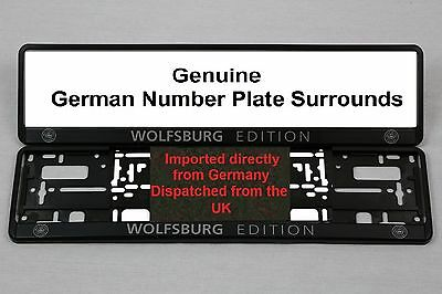 Wolfsburg Edition VW Number Plate Surrounds GTI - Pair