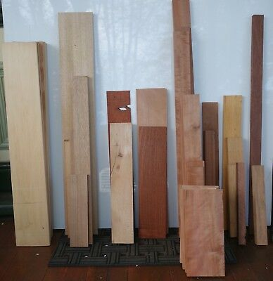 Large selection of various timber including Cedar, Kauri, Tasy Myrtle