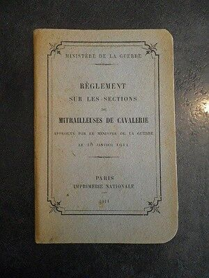 manuel 1911 instruction sur les sections de mitrailleuses de cavalerie