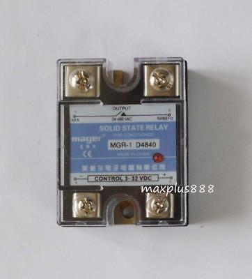 New Solid State Relays SSR  AC24V-AC480V 40A 3-32VDC D4840 NEW   DC-AC