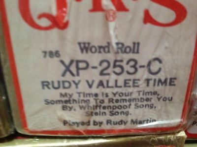 RUDY VALLEE TIME  4 Selections NEW LONG PLAY PIANOLA ROLL
