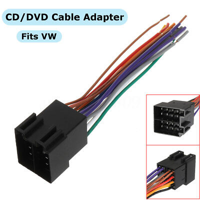 Car Audio Stereo CD/DVD Player Wiring Harness Plug Cable Adapter VWH1000 For VW