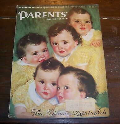 "Dionne Quintuplets - 1935 - Featured in ""Parents' Magazine"" - October 1935"