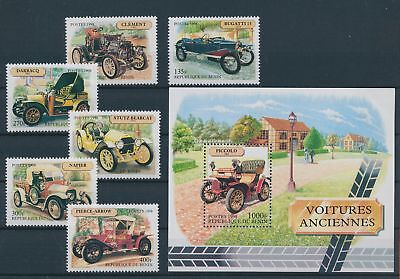 LH19665 Benin 1998 old timers cars fine lot MNH