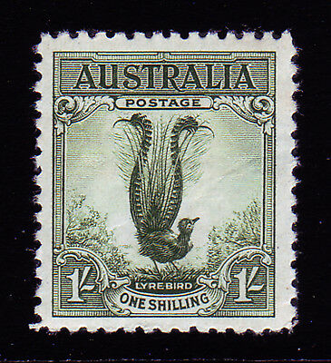Australia. Sg 140, 1/- Green. No Wmk. Mounted Mint.