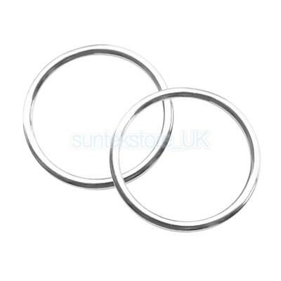 2pcs Welded Stainless Steel O Ring Circle Craft Webbing Boat Accessory