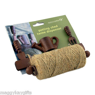 Potting Shed Twine Dispenser – Gardener Gift Jute String Holder Wall Fence Hang