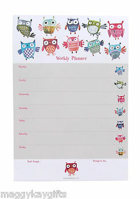 A4 WEEKLY PLANNERS - 60 pages - Butterfly Owl Cats Dogs Piano Keys Organiser