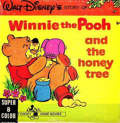 WINNIE THE POOH & THE HONEY TREE 1966 Super 8mm Colour Magnetic Sound 200'