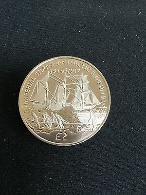 2017 sandwich islands £2.00 coin depicting trans-Antarctic expedition
