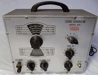 Vtg EICO 324 Signal Generator Old Tech Halloween Mad Scientist  Decor Prop WORKS