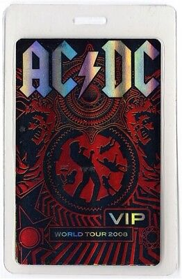 AC/DC authentic 2008 concert Laminated Backstage Pass Rock N Roll Train Tour VIP