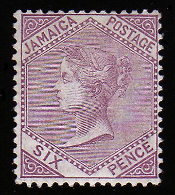 JAMAICA. SG 52, 6d LILAC. MOUNTED MINT.
