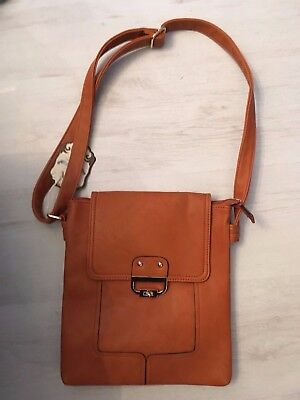 gorgeous faux leather Cross Body new large  Tan Bag By Moda messenger