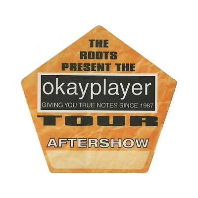The Roots authentic Aftershow 2000 tour Backstage Pass