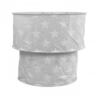 White Stars, Grey Two Tier Light Shade