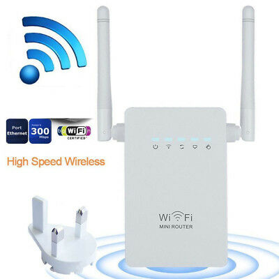 300Mbps Wireless-N Repeater Network Router WiFi Signal Range Extender Booster AP