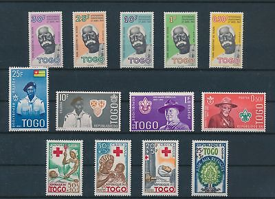 LH20294 Togo boy scouts red cross fine lot MNH
