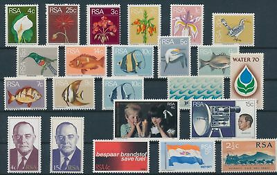 LH20338 South Africa nice lot of good stamps MNH