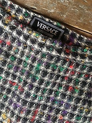 Super Cool Vintage Versace Tweed Mini Skirt