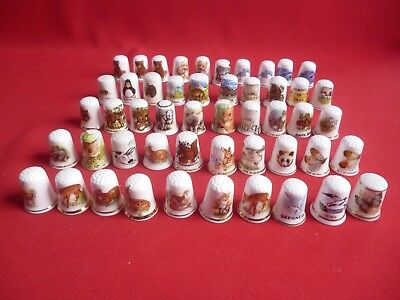 Job lot 50 Mixed, Wild Animals,Dolphins,Butterflies More collectors thimbles.