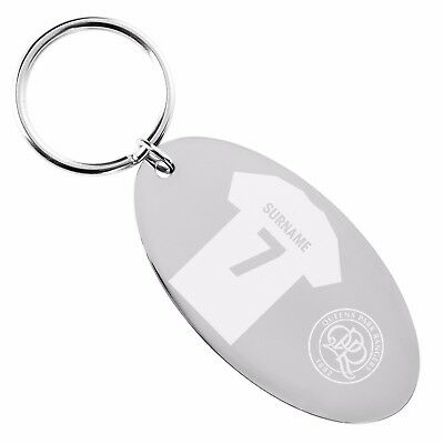 Personalised Engraved Queens Park Rangers Football Club FC OVAL KEYRING Gift QPR