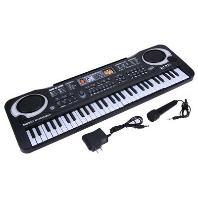 61 Key Music Electronic Keyboard Electric Digital Piano Organ w/ # Microphone