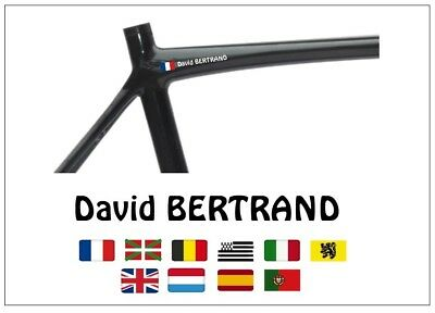 Nom Cadre Velo Perso 10 Couleurs / Personalised Bike Name Frame 10 Colors Hob