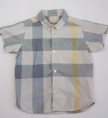 Burberry Youths Kids | 12 - 18 Month boys check button down collar shirt