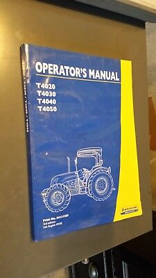 New Holland T4020 T4030 T4040 T4050 Tractor Operator's Manual 84131283