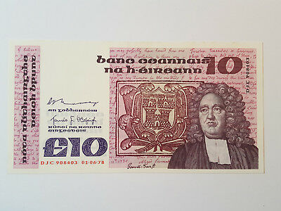 Central Bank of Ireland £10 Banknote 01.06.78 DJC908403 Murray Ó Cofaigh P72a EF