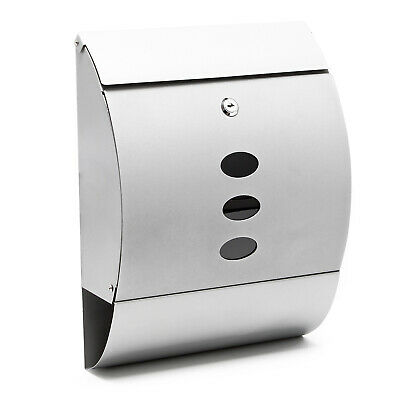 Design Mailbox V18 silver Letterbox Postbox Pillar Letter Mail Post Box