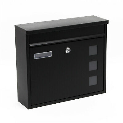Design Mailbox V12 black Letterbox Postbox Pillar Letter Mail Post Box