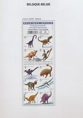 XA80622 Belgium 2015 dinosaurs booklet MNH face value 7,9 EUR