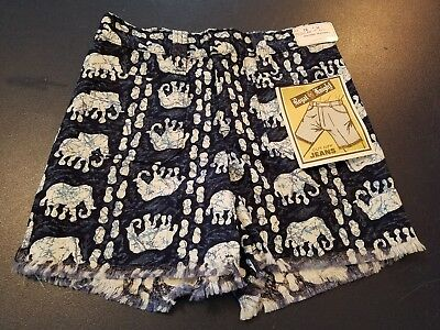 "Vintage 1970s Boys ROYAL KNIGHT ""cut off jeans"" Shorts Blue Elephant Sz12 26 NWT"