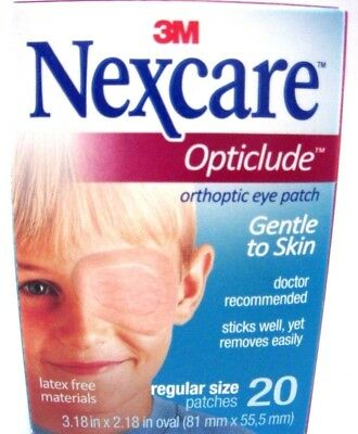 3M Opticlude Orthopic Eye Patch by Nexcare 20ct with Regular Size -2PK