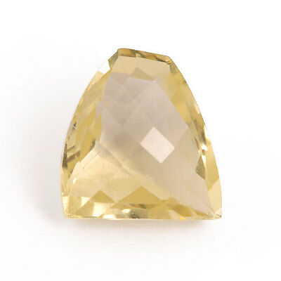 11.16 Ctw Fancy Cut Faceted Natural Lemon Topaz